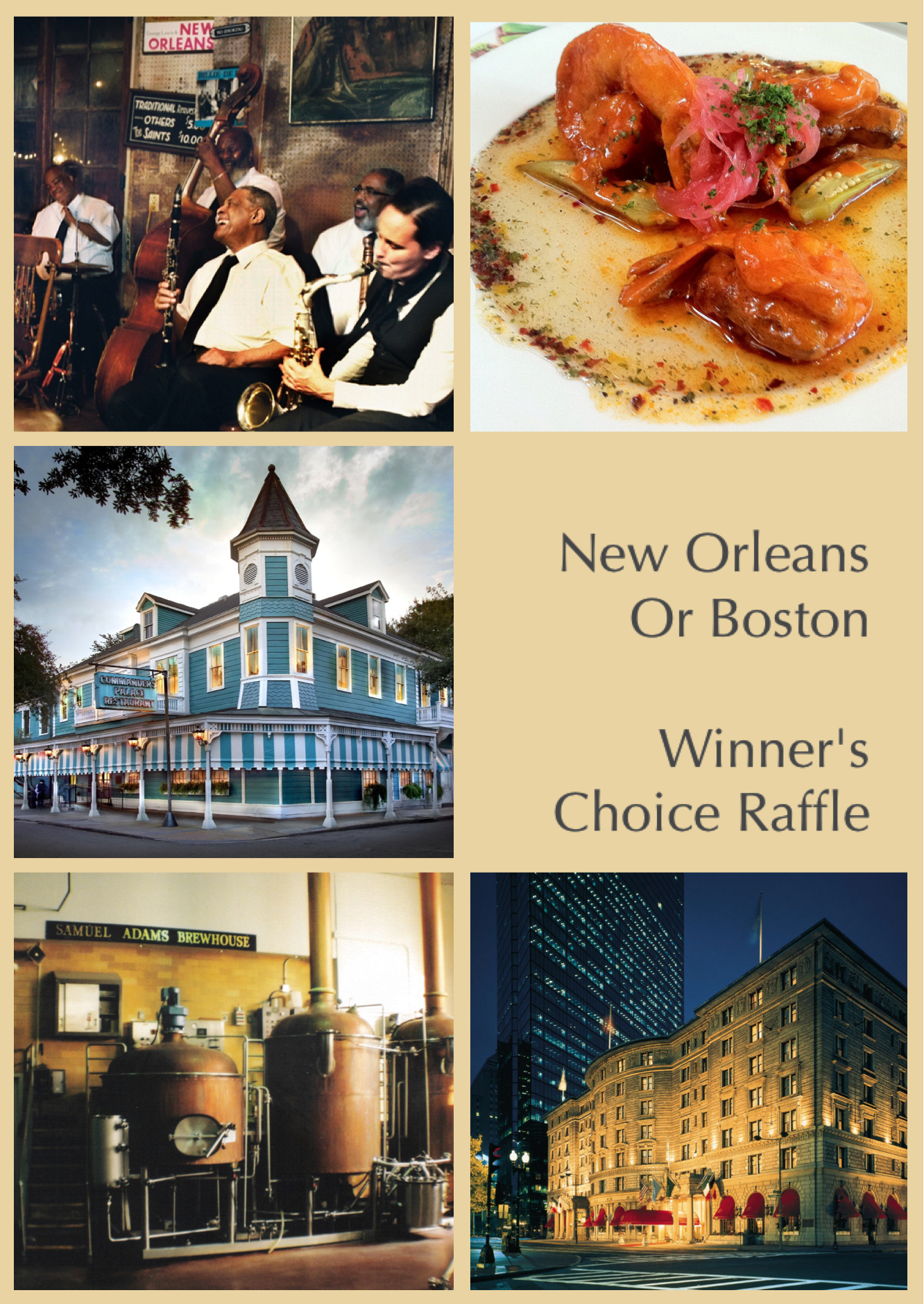 Win A Trip to Boston or New Orleans