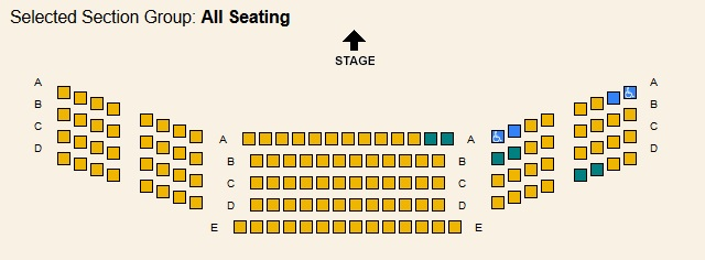 NC Stage Seating Map